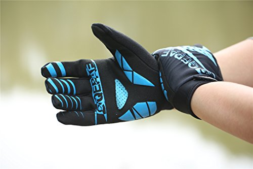 Lerway Winter MTB Handschuhe Gepolstert Race Fahrrad Handschuhe Sporthandschuhe für Radsport ,Outdoor Sport Mountainbike Damen und Herren Gloves (M, Blau)