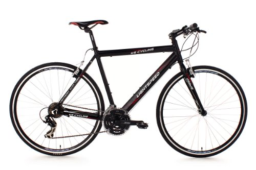 KS Cycling Herren Fahrrad Fitnessbike Alu 28 Zoll Lightspeed RH 54 cm, schwarz, Rahmenhöhe: 54 cm, Reifengröße: 28 Zoll (71 cm), 200B
