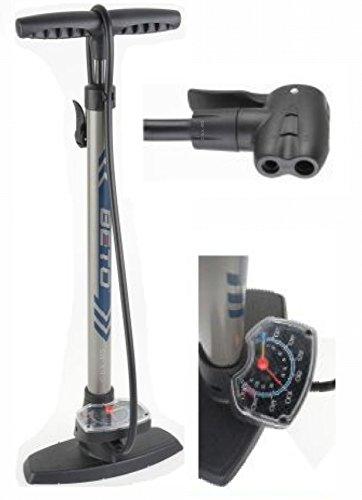 Standpumpe mit extra grossem Manometer BETO Fahrradpumpe – für alle Ventile