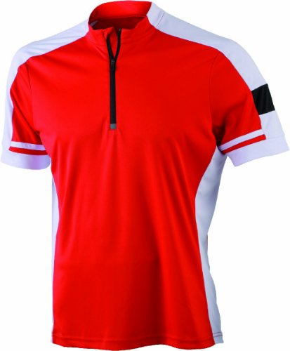 Herren Bike Shirt 1/2 Zip – Neues Modell 2014 red XXXL