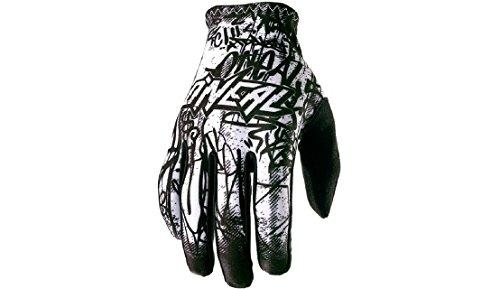 O'Neal Matrix Handschuhe Vandal Schwarz Weiß MX MTB DH Motocross Enduro Offroad, 0388M-4, Größe M