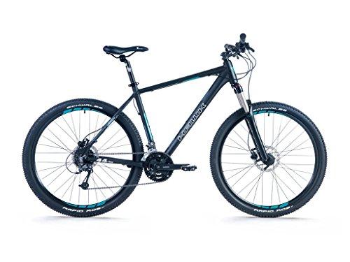 HAWK Bikes Fourtyfour 27,5 – Mountainbike Hardtail 27,5 Zoll – 27-Gang Shimano Deore mit Federgabel und Scheibenbremsen (M)