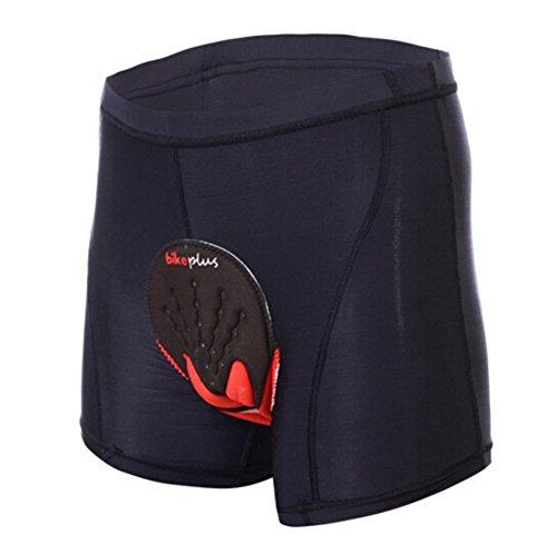 ALLY Fahrradhose mit 3D COOLMAX Sitzpolster Herren Radfahren Fahrrad Unterwäsche Shorts (XL)