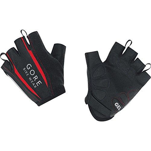 GORE BIKE Wear Herren Kurzfinger-Rennrad -Handschuhe, Atmungsaktiv, GORE Selected Fabrics, POWER 2.0 Gloves, Größe 10, Schwarz/Rot, GSPOWE