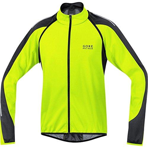 GORE BIKE WEAR 3 in 1 Herren Soft Shell Rennrad-Jacke, Jersey und Weste, GORE WINDSTOPPER, PHANTOM 2.0 WS SO Jacket, Größe: XL, Neon Gelb/Schwarz, JWPHAM