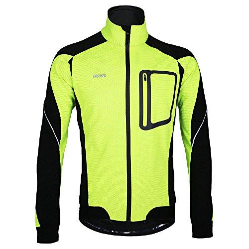 Lixada MTB Mountainbike Jacket Winter Trikot Radfahren Fahrradkleidung Winddicht Jersey, Grün, XXL
