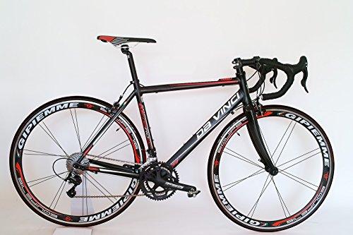 Rennrad Da Vinci 20 G Compact mit Gipiemme 716 Equipe Laufräder (55 – für KG 1.76 bis KG 1.82)