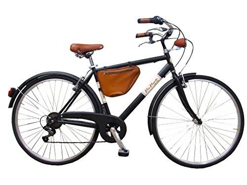 Via Veneto By Canellini Fahrrad Rad Citybike CTB Herren Vintage Retro Cafè Race Stahl Schwarz Mat