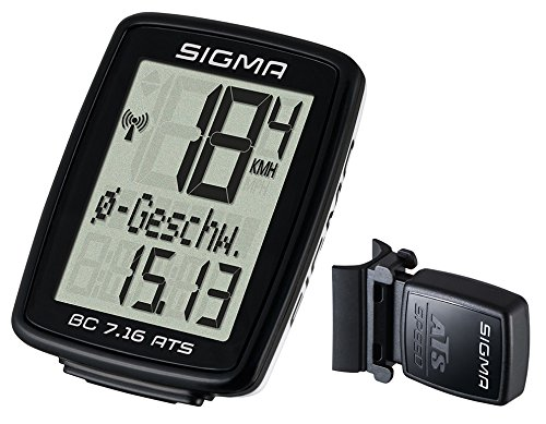 Sigma BC 7.16 Ats Fahrradcomputer, Black, One size