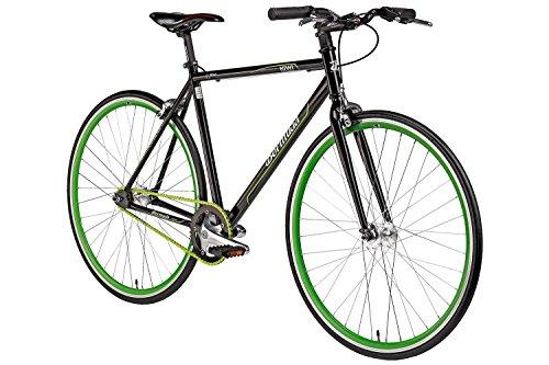 Fixie 28 Zoll Singlespeed Retro Fahrrad in schwarz / grün 28