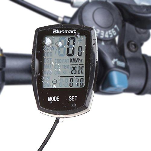 Fahrradcomputer, Blusmart Zyklus-Computer-wasserdichte automatische Wake-up Große LCD-Hintergrundbeleuchtung Motion Sensor Outdoor Radsport Realtime Speed   Track