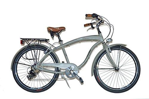 Via Veneto By Canellini Fahrrad Rad Citybike CTB Herren Vintage Retro American Cruiser Alluminium Grun