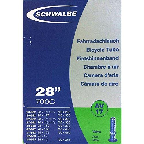 SCHWALBE Fahrradschlauch AV17 mit Autoventil ~ 27