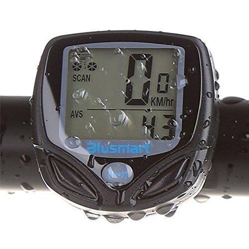 Fahrradcomputer, Blusmart Drahtloser LCD Fahrrad Tachometer Auto Wake Up Backlight f¨¹r Ttracking Geschwindigkeit und Distanz, Wasserdicht