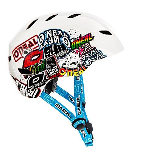 O'Neal Dirt Lid Fidlock ProFit Helm JUNKIE weiß BMX Fahrrad Freestyle MTB, 0580J-2, Größe M (57/58 cm)