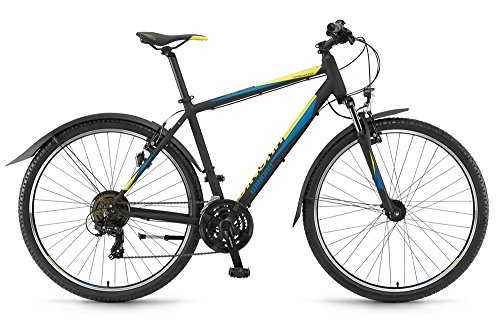 Winora Grenada Herren Crossrad 21G schwarz/aqua/lime matt RH 56 cm / 28 Zoll