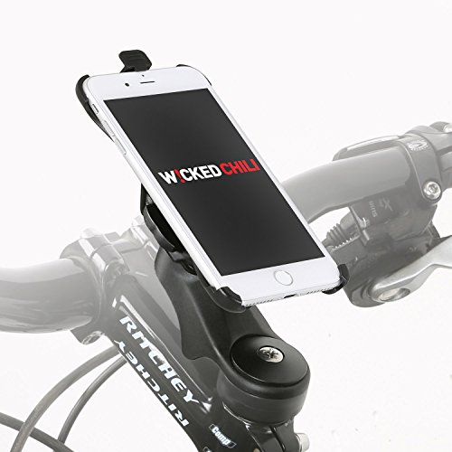 Wicked Chili Fahrradhalter Vorbau / Ahead Halter für Apple iPhone 7 (4,7 Zoll) (20% Carbon, MTB / Rennrad, Made in Germany, QuickFix)