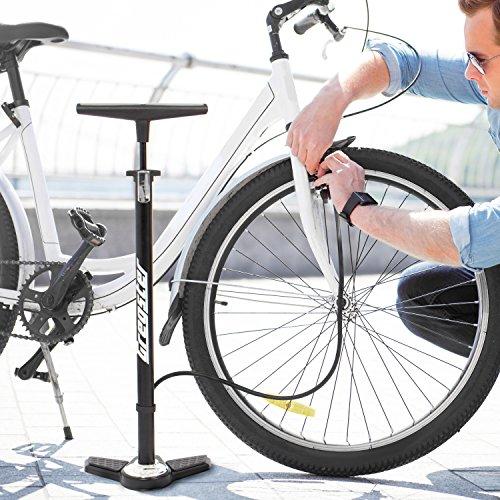 gregster fahrrad luftpumpe in schwarz standluftpumpe mit. Black Bedroom Furniture Sets. Home Design Ideas