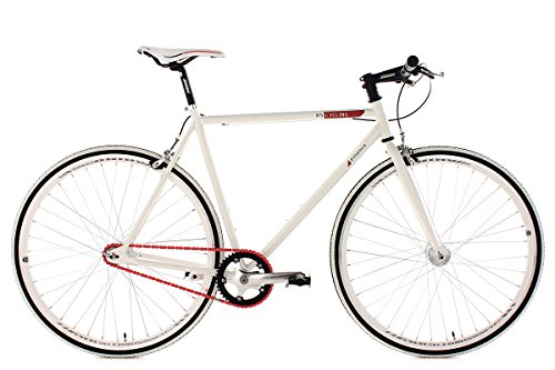 KS Cycling Fahrrad Fitness-Bike Single Speed Essence RH 59 cm, Weiß, 28, 392B