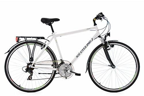KS Cycling Trekkingrad Herren Vegas RH 58 cm Flachlenker Fahrrad, Weiß, 28