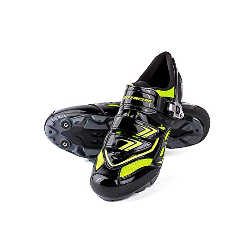 Alian Fahrradschuhe für Radfahrer, wasserdicht, atmungsaktiv, saugfähig, saugfähig, für Herren, wasserdicht, rutschfest, für Mountainbikes, für Laufrad, Sport Montagna 43 metri verde nero –