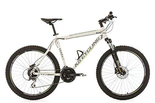 KS Cycling Fahrrad Mountainbike MTB Hardtail 26 inches GXH Weiß Alu Rahmen
