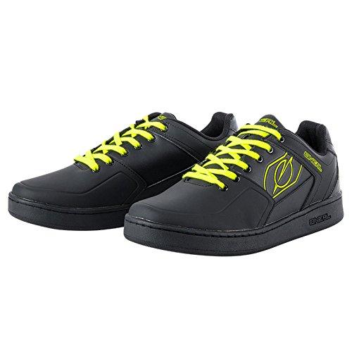 O'Neal Pinned Flat Pedal Fahrrad Schuhe Sneaker MTB BMX DH FR All Mountain Bike Downhill Sport, 322, Farbe Gelb, Größe 43