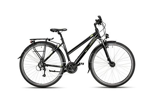 Hawk Bikes Green Trekking Lady – Damen Trekkingrad – Aluminiumrahmen mit 24-Gang Shimano Schaltung und Nabendynamo (Rahmengröße 44 cm)