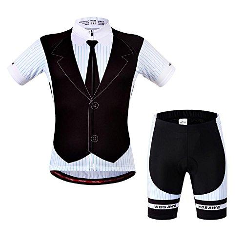 Poetryer Herren Radtrikot Set Fahrrad Trikot Kurzarm + Radhose Männer Fahrradbekleidung Trikot Set Cycling Bekleidung Sportbekleidung