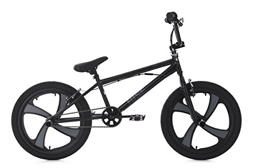 KS Cycling Rise BMX Freestyle Unisex Kinder, schwarz