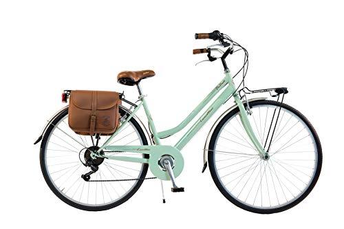 Via Veneto by Canellini Fahrrad Rad Citybike CTB Frau Vintage Retro Via Veneto Stahl (Hellgrun, 46)