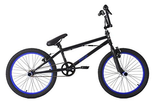 KS Cycling BMX Freestyle 20'' Yakuza Fahrrad, schwarz-Blau