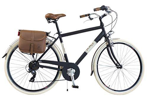Via Veneto by Canellini Fahrrad Rad Citybike CTB Herren Vintage Retro Via Veneto Alluminium (Schwarz, 58)