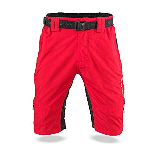 SILVINI Herren Rango MTB Hose, Red-Black, L