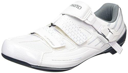 Shimano Damen Fahrradschuhe Rennradschuhe SH-RP3W GR. 39 SPD-SL Klett-/Ratschenv., Damen Radsportschuhe – Rennrad, Weiß (White), 39 EU