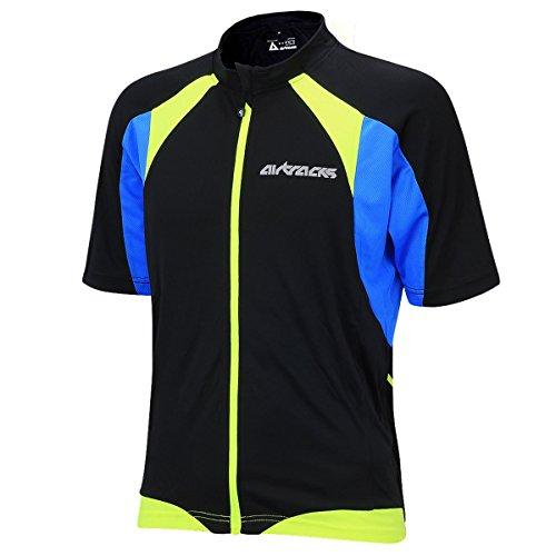 Airtracks FUNKTIONS Fahrradtrikot/RADTRIKOT / Jersey/Kurzarm PRO T – schwarz-neon – XL