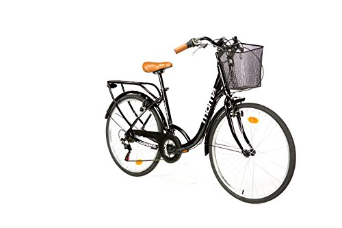 MOMA BIKES City Classic 26 Fahrrad, Schwarz, One Size