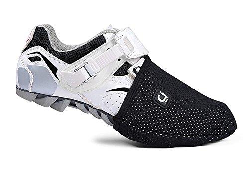 West Biking–Kappen für Schuhe Fahrrad, Zubehör für Bekleidung Radtrikot Herren, schützt die Finger des Fußes, Design für Radsport auf Mountain Bike. L Schwarz – schwarz