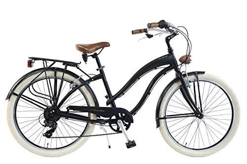 Via Veneto by Canellini Fahrrad Rad Citybike CTB Frau Vintage Retro American Cruiser Alluminium Schwarz