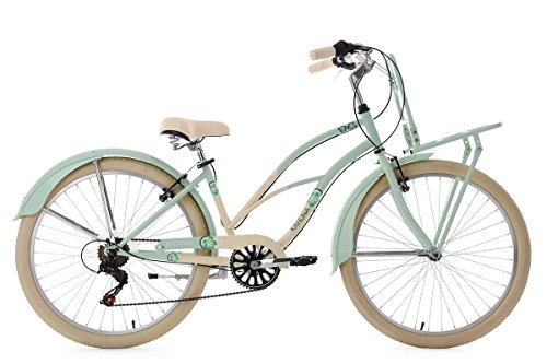 KS Cycling Damen Beachcruiser Cargo Cruiser Kahuna Fahrrad, Mint, 26 Zoll