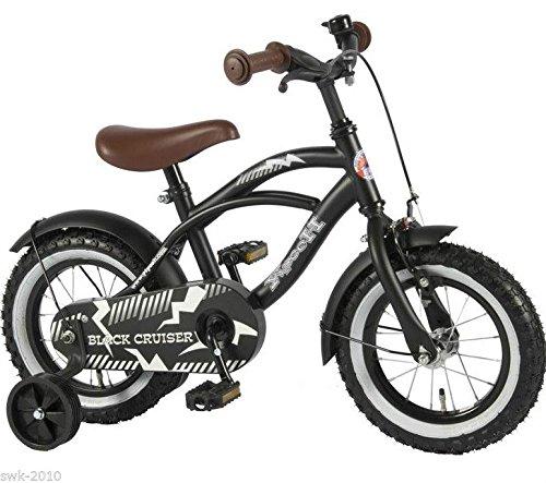 Qualitäts-Kinderfahrrad matt schwarz bike Black Cruiser 21201