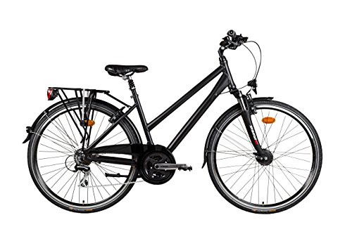 Sachsenring Bike Manufaktur Damen Trekkingrad, schwarz seidenmatt, M