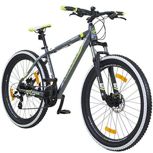 Galano 650B+ 27,5+ Zoll MTB INFINITY Mountainbike Scheibenbremsen Shimano 27,5×3.0 Fatbike, Farbe:grau/grün