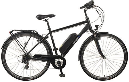 SAXXX Touring E-Bike Pedelec Hinterradmotor 10,4Ah 250W 36V Lithium-Ionen Akku Shimano 7Gang Kettenschaltung Federgabel