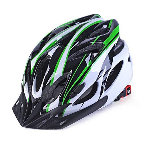 Mountainbike-Helm, Fahrradhelm für Erwachsene, mit Visier, Sicherheitsschutz, integrierter Form-Helm für Damen und Herren Grün/Schwarz