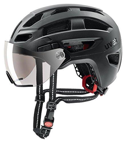 Uvex Visier Fahrradhelm mit LED Licht finale visor