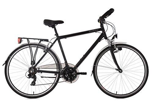 KS Cycling Herren Canterbury RH 58 cm Aluminiumrahmen Multipositionslenker Trekkingrad, schwarz, 28