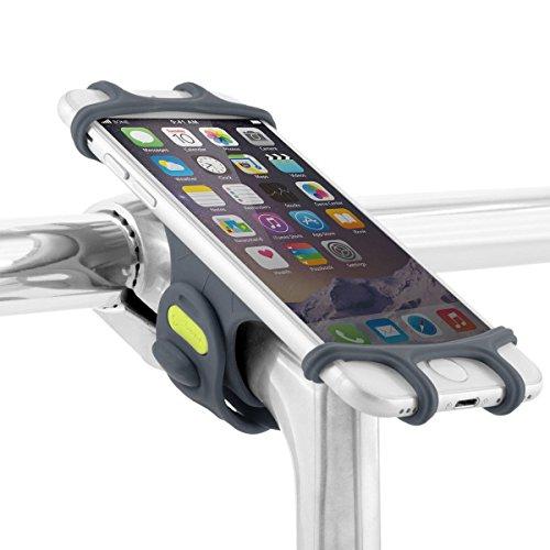 Fahrrad Handyhalterung für den Vorbau, für Smartphones von 4-6 Zoll, Ultra leicht, bricht/rostet Nicht, für Straßen-, Renn- sowie Tourenrad