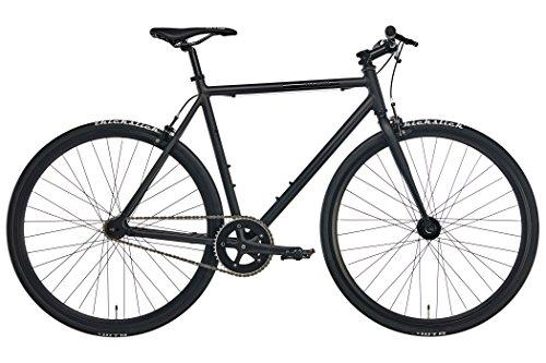 Fixie Urban-Bike Blackheath Black 2018 ist EIN Leichtes City-Rad in Matt-Schwarz | Cooles Fixed-Gear Fahrrad mit 28-Zoll Reifen
