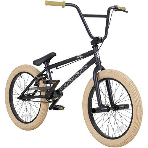 20 Zoll BMX Collective C1 Pro Park Freestyle Bike Fahrrad 16/9 Park Bike schwarz, raw, rot oder Galaxy, Farbe: Schwarz